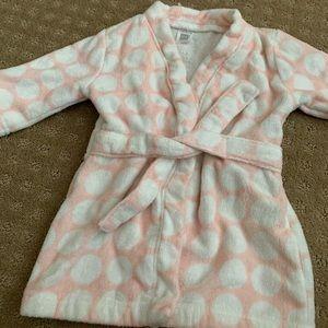 Carter's Pink polka dot baby girl's bath robe